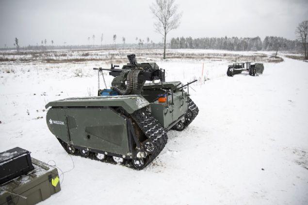 Estonyalı bir firma, uzaktan kumanda ile kontrol edilebilen mini bir tank tasarladı.