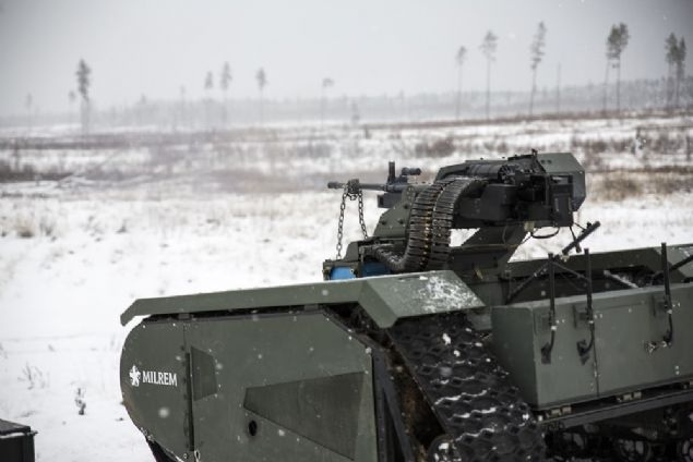 Mini tank Estonya merkezli bir savunma ve güvenlik sağlayıcısı olan Milrem tarafından tasarlandı.