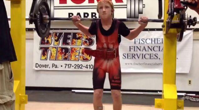 Jake Schellenschlager: 12 yaşında en güçlü çocuklar arasında gösterin Jake, 15 yaşına geldiğinde dahada kuvvetlendi.
