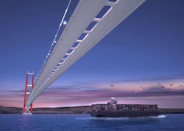 1915 Çanakkale Köprüsü, tamamlandığında 'dünyanın en uzun aralıklı köprüsü' olacak. Trakya'dan Ege ve Akdeniz'e uzanan ulaşım hattında Çanakkale'yi Marmara Bölgesi'nde çok önemli konuma taşıyacak köprü, 10 milyar liranın üzerinde yatırımla hayata geçirilecek.