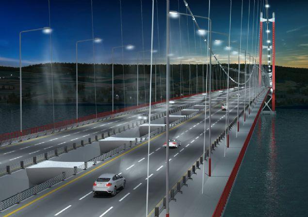 Köprü hizmete girdiğinde 2023 metre uzunluğuyla, 1991 metrelik Japon Akashi Kaikyo Köprüsü'nü geçerek dünyanın en uzun ayak açıklığına sahip köprüsü olacak.