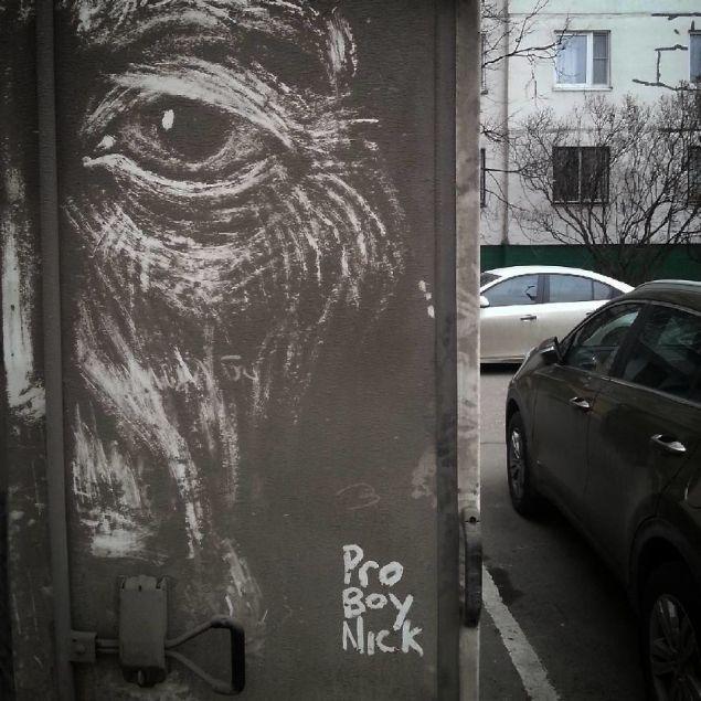 Kirli arabalara sanat çizdi