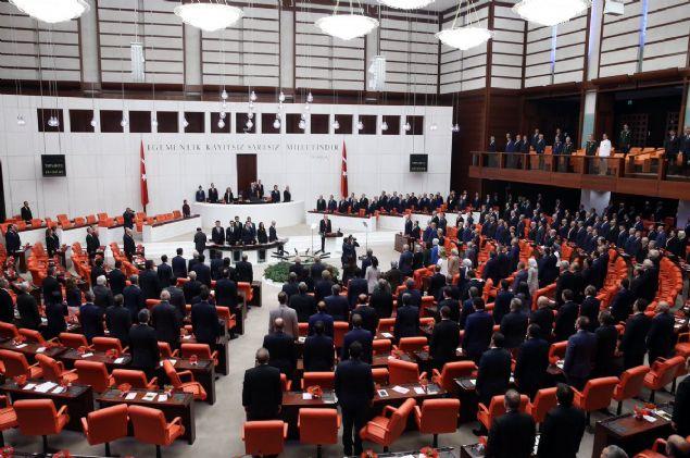 TBMM Genel Kurulu, Meclis Başkanı Kahraman'ın başkanlığında toplandı. Kahraman'ın, sunuş konuşmasını yapmasının ardından Genel Kurul'a davet edilen Cumhurbaşkanı Recep Tayyip Erdoğan, yasama yılı açış konuşmasını yaptı.