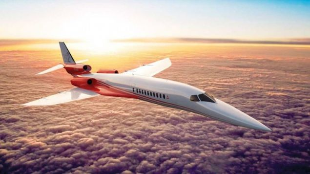 Test amaçlı olarak dünyanın ilk süpersonik özel uçağı AS2 havalandı.
