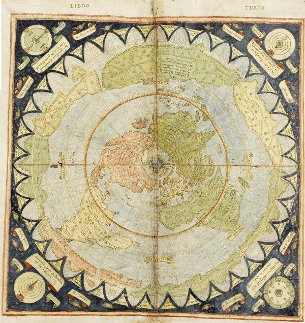 16. yüzyıl dünyasını gösteren ve Urbano Monte tarafından oluşturulan dünya haritası, tek boynuzlu atları ve deniz adamları ile birlikte o dönem insanlarının dünyayı nasıl gördüklerini gözler önüne seriyor.