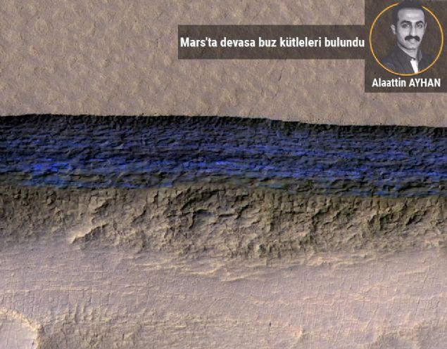 Mars'ta devasa buz kütleleri bulundu