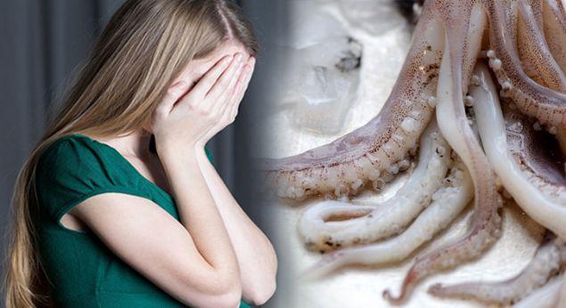 Güney Kore'de aralarında mürekkep balığının da bulunduğu çiğ deniz ürünlerini tüketen 63 yaşındaki kadının ağzında, mürekkep balığından salınan ve canlı kalan spermler döllendi.
