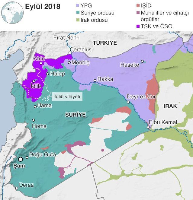 İdlib nerede son dakika şu anda kimin elinde? İdlib'in son haritasına bakın!