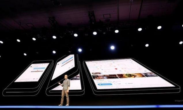 İşte Samsung'un katlanabilir telefonu