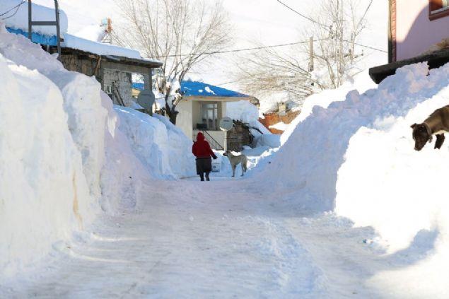 Binaların ilk katlarının kara gömüldüğü ilçede gece eksi 30'lara kadar düşen hava sıcaklığı nedeniyle ise vatandaşlar zor anlar yaşıyor. Evlerinin önlerinde küreklerle karların arasından yol açan vatandaşlar, uzun yıllar sonra ilk defa böyle bir kış mevsiminin yaşandığını dile getirdi.