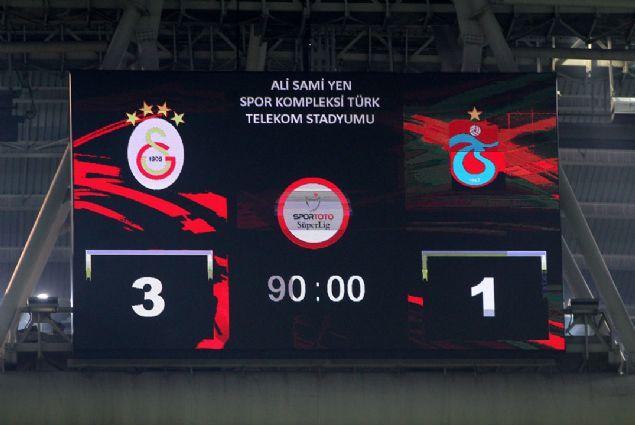Galatasaray: 3 Trabzonspor: 1