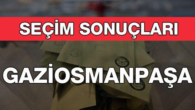 Geçersiz Oy Sayısı: 10.459  <br><br>  GAZİOSMANPAŞA: CHP<br><br>  Kesin olmayan sonuçlara göre 143 bin 279 oy alan AKP'li Hasan Tahsin Usta, Gaziosmanpaşa Belediye Başkanı seçildi. Onu 91 bin 730 oy alan CHP'li Ercan Kaya takip etti.