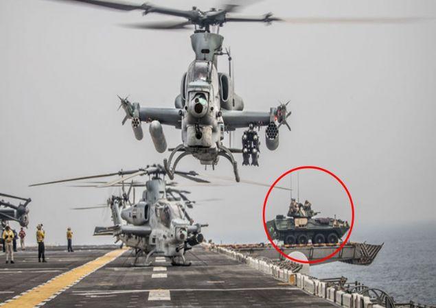 Hürmüz'den geçen savaş gemisinde 'zırhlı' ayrıntısı! Karaya mı çıkacaklar?
