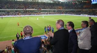 Medipol Başakşehir-Club Brugge maçını Cumhurbaşkanı Erdoğan da izledi