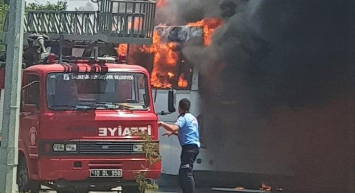 Balıkesir'de yolcu otobüsünde yangın faciası