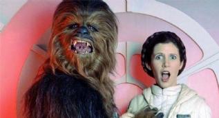 Star Wars'ta Chewbacca rolü kamera arkası fotoğrafları