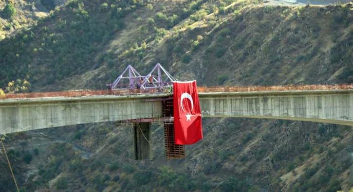 Türkiye'nin en yüksek köprüsü olacak