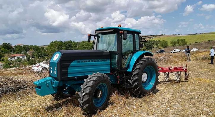 Yerli elektrikli traktör test edildi