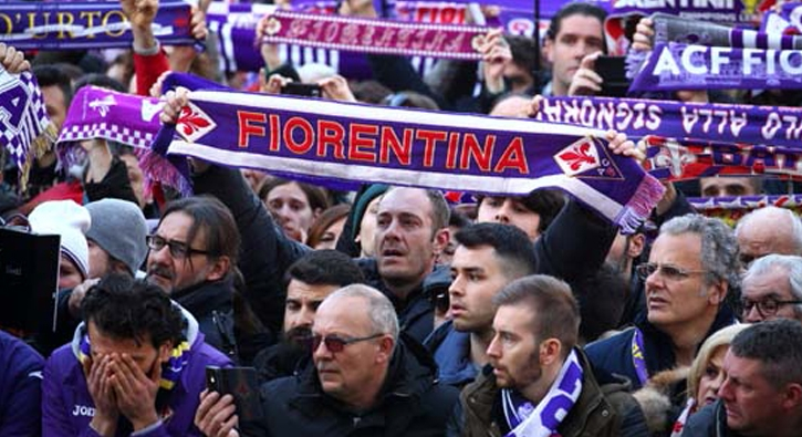Fiorentina kaptanı Astori son yolculuğuna uğurlanıyor