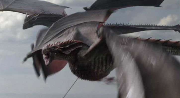 Game of Thrones'ta 'Rhaegal' böyle öldürülmüş!
