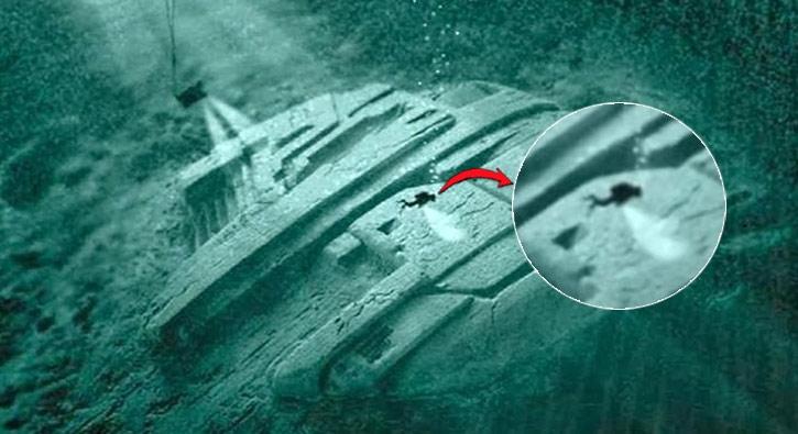 Denizin dibinde uzaylı aracı mı bulundu?