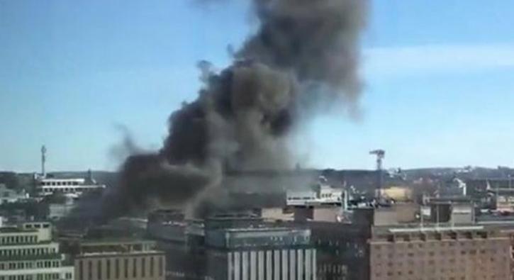 Stockholm'de büyük patlama