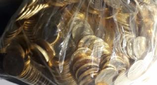 Adana'da kraliçenin altın paraları ele geçirildi