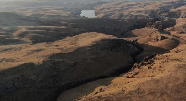 9 milyon yıllık! Havadan böyle görüntülendi