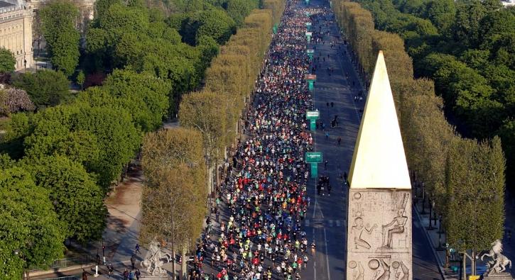 Paris Maratonu 2019'dan renkli görüntüler
