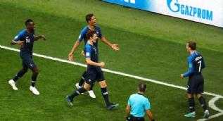 Fransa - Hırvatistan finalinden en çarpıcı kareler