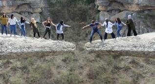 Sırçalı Kanyon'daki 'taş teras' ziyaretçi akınına uğruyor