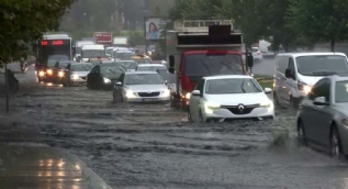İstanbul'da şiddetli yağış...