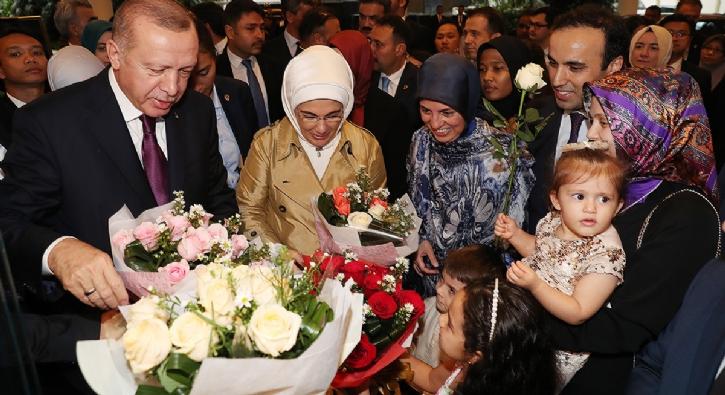 Başkan Erdoğan böyle karşılandı