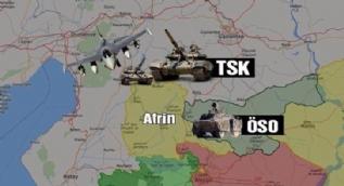 Türk savaş uçakları Afrin'de hedefleri vurdu! İşte ilk görüntüler
