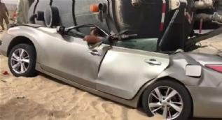 Ölümün kıyısından dönen araç sürücüleri