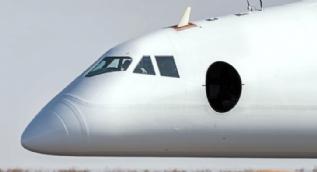 Futbol sahası büyüklüğünde uçak