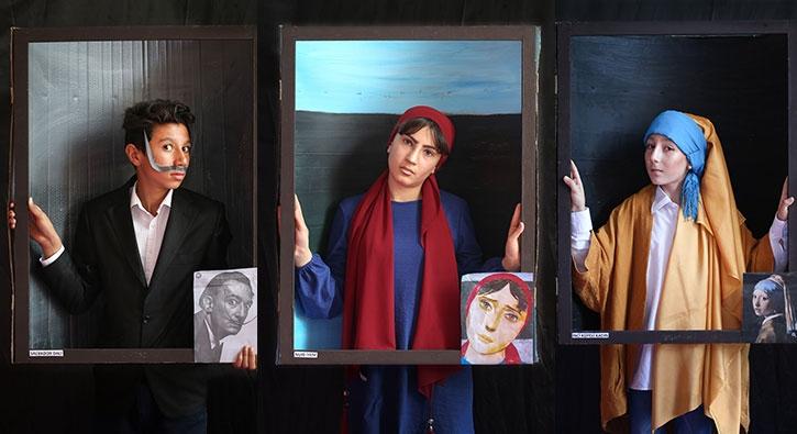 Ünlü ressamların eserlerini canlandırdılar