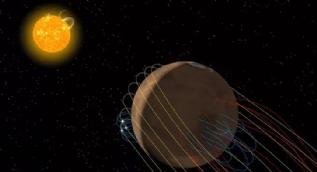 Mars'ta görünmez bir manyetik kuyruk keşfedildi