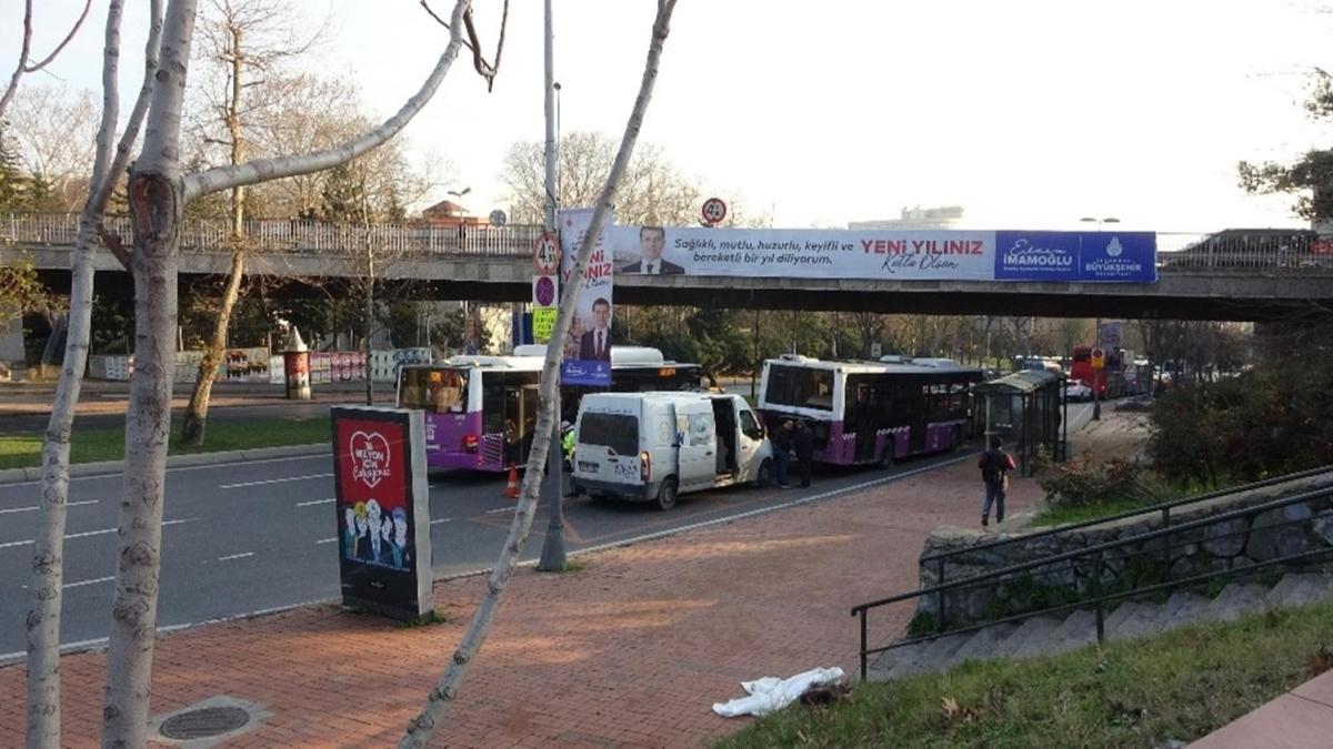 İstanbul'un göbeğinde akıl almaz kaza