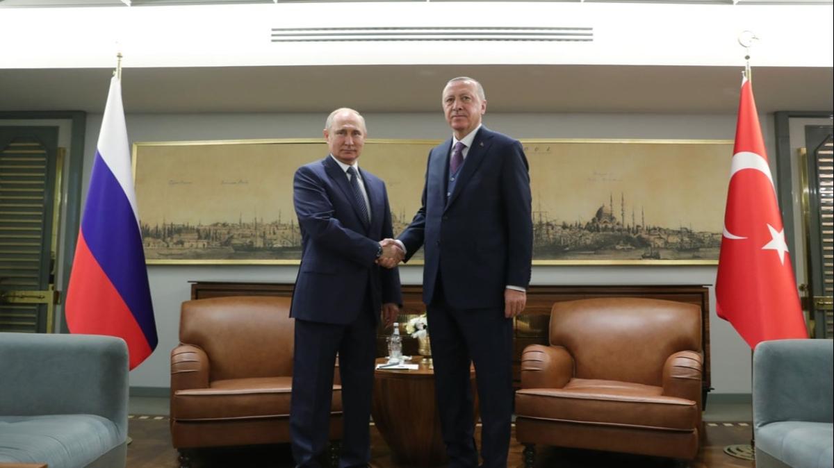 Türkiye Cumhurbaşkanı Erdoğan ile Putin görüşmesi