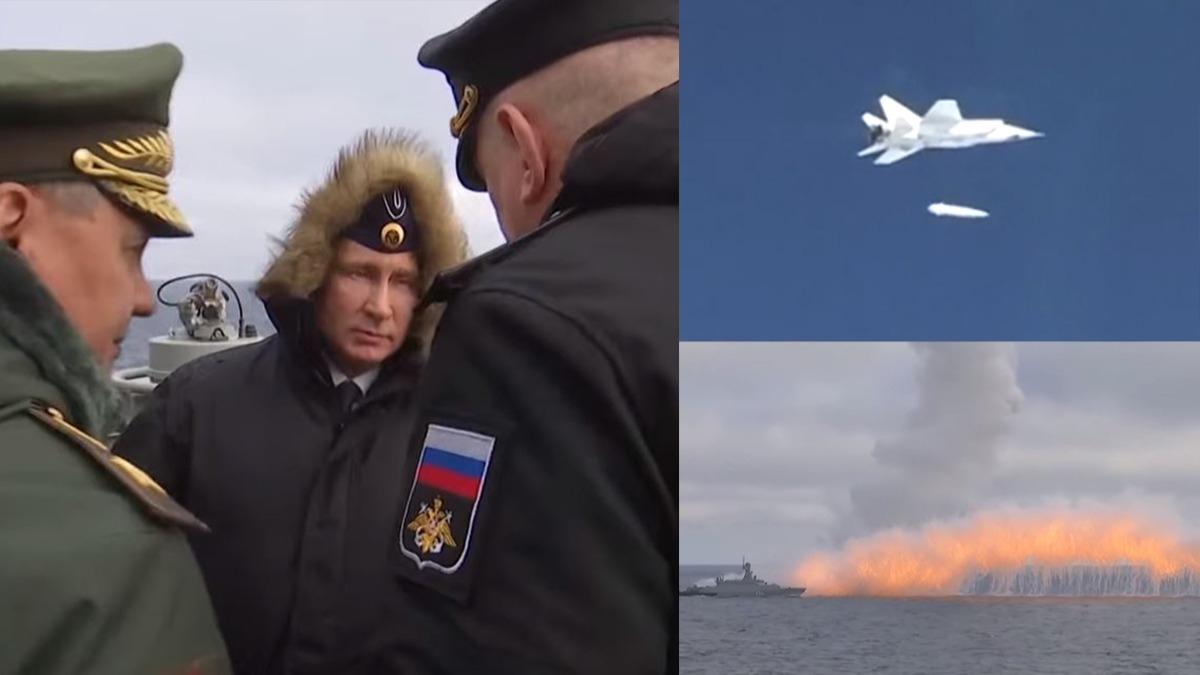 Putin bizzat yönetti, 'yenilmez' dediği silah ateşlendi