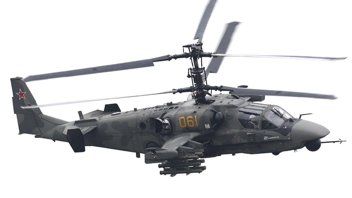 'Gökyüzündeki Timsah' Ka-52 şov yaptı