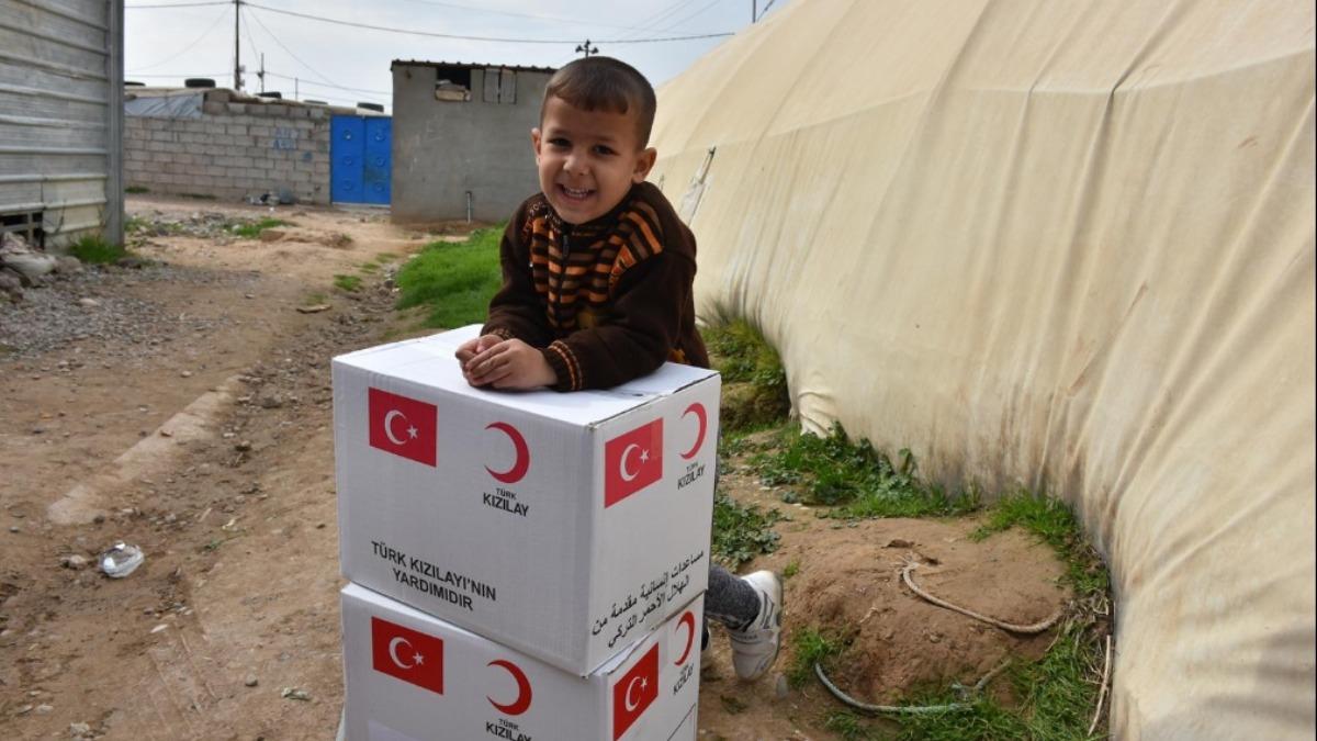 Türk Kızılay'ın yardım eli Kerkük'e uzandı