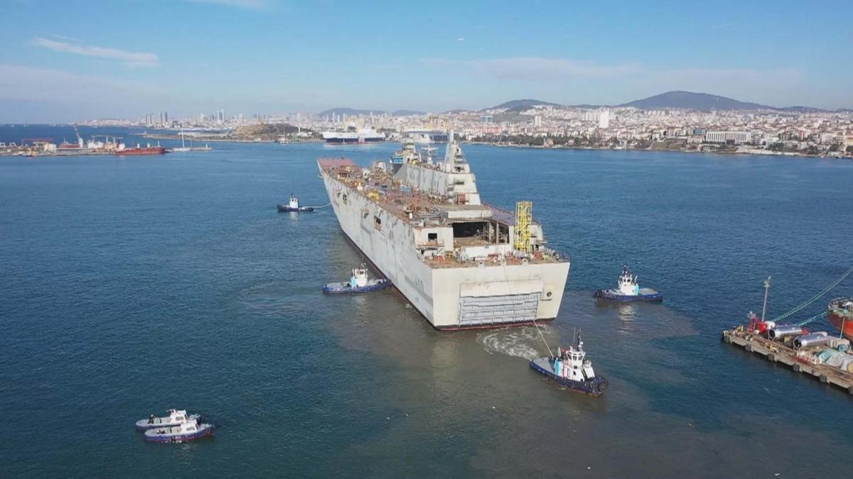 Türkiye'nin ilk uçak gemisi 'TCG Anadolu' da sona doğru