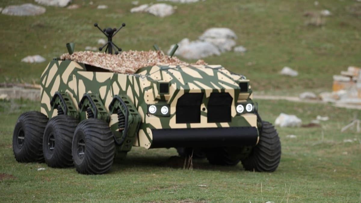 Yerli insansız kara aracına sıhhi tahliye görevi