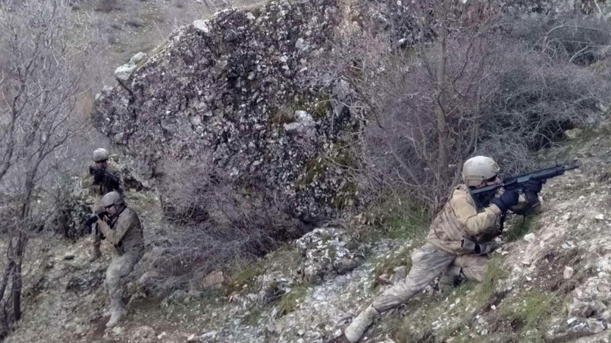 Kazan vadisinde silah ve mühimmat ele geçirildi