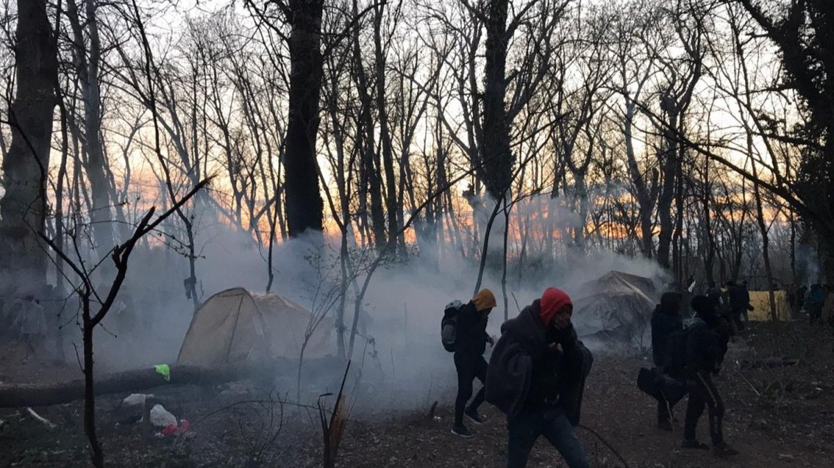 Sığınmacılara gazla müdahale