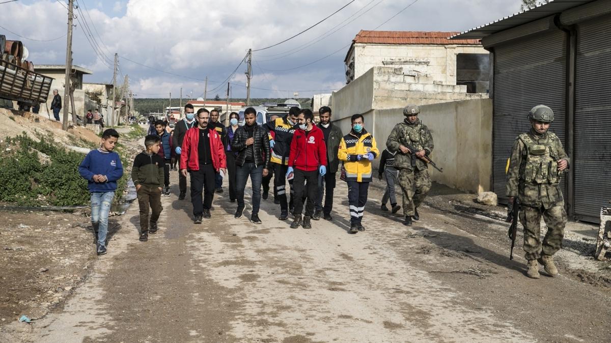 Türkiye'den Afrin'de yeni tip koronavirüse karşı bilgilendirme çalışması