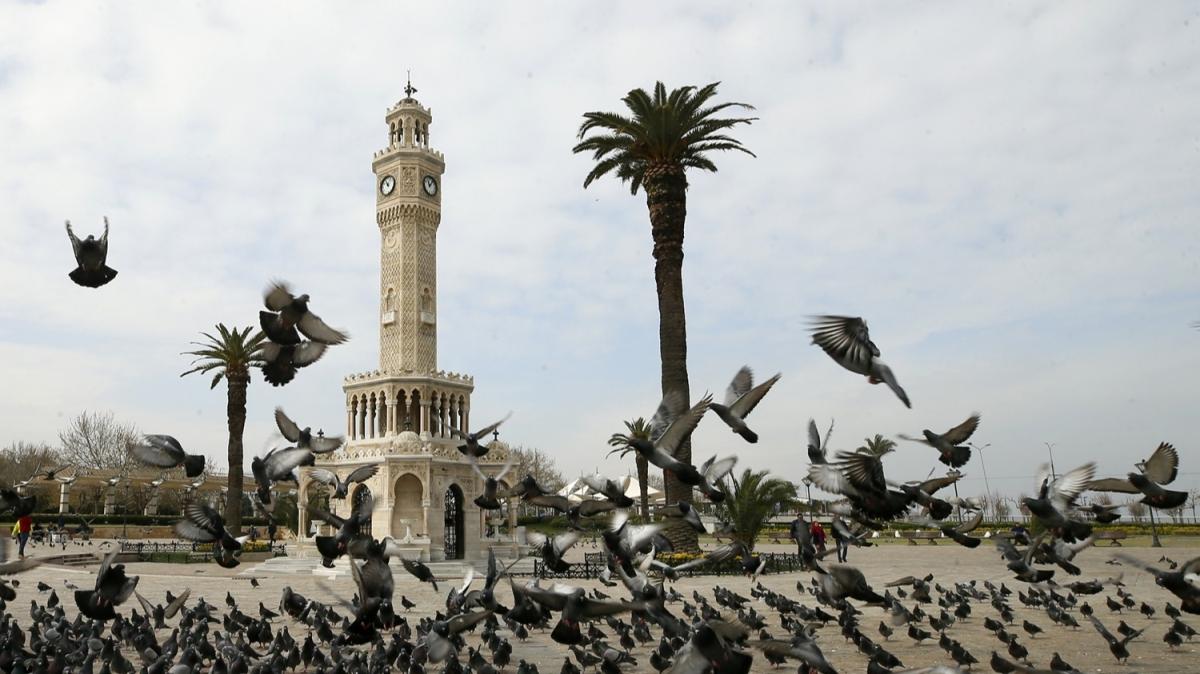 Sokaklar boş kaldı...  İzmir meydanları dronla görüntülendi
