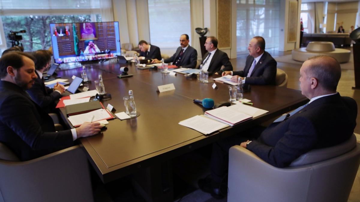 Dünya liderlerinden kritik toplantı! Başkan Erdoğan telekonferans yöntemiyle katıldı